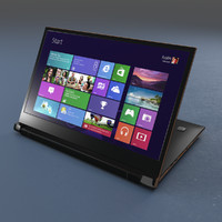 lenovo flex laptop 3d model