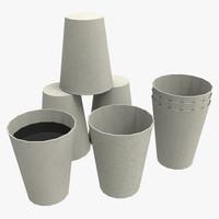 coffee cups paper 3d x