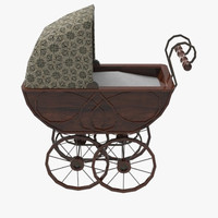 pram carriage 3d model