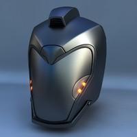 robot head 3d max