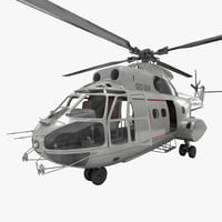 3d model of utility helicopter sa 330