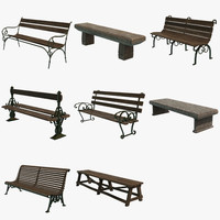 3d pack benches model