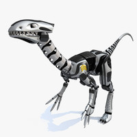3d dinosaur robot animation model