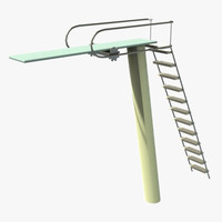tall diving board 3d x
