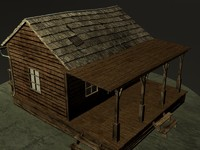 old wooden house 3d model