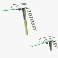 3d model diving boards