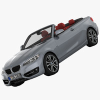 3d model bmw 2 series convertible