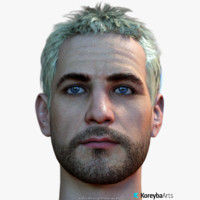 male head real-time 12 3d model