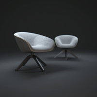 b b-mart-armchair 3d model