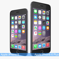 3d apple iphone 6 space model