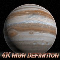3d planet jupiter