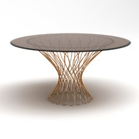 allure dining table 3d obj