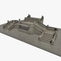 3d stone steps model