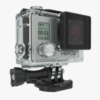 3d model gopro hero3 action camera