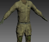 3d model of idf uniform