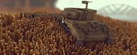 minecraft panzer tank 3d c4d