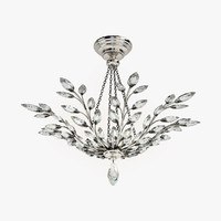 3d model fine lamps crystal laurel