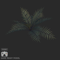 Plant low poly 02