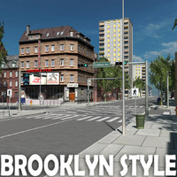 3d city building brooklyn style
