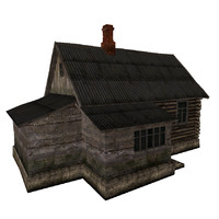 3ds max russian hut