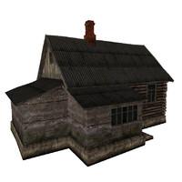 3ds max russian hut