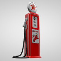 3d old gas pump model