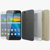 realistic huawei ascend g7 3d model