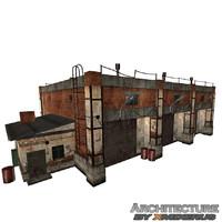 3ds max brick garage