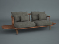 fly lounge tradition sofa 3d model