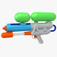 water gun super soaker 3d max