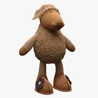 toy sheep nici 3d model