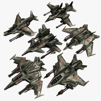 3d 6 jet fighters model