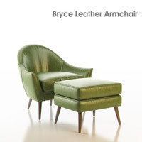 3d model bryce leather armchair