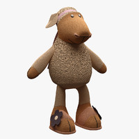 3d model toy sheep nici