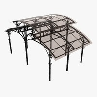 forged car canopy 3d obj