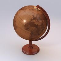 3dsmax wooden globe uv-unwrapped