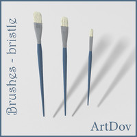 artistic brushes - 3d model