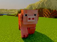 minecraft pig rig 3d c4d