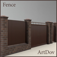 3d model fence cottages