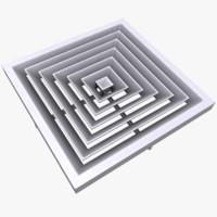 3d asset polys diffuse model