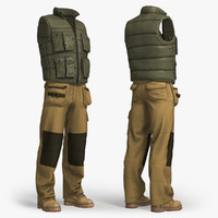 3d workwear clothing model