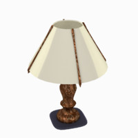 Wooden table-lamp