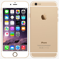 3d 3ds apple iphone 6 gold