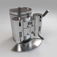 manual coffee maker 3d model