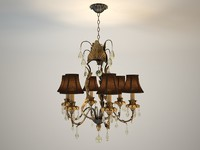 3d model empyrean chandelier savoy