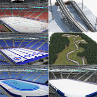winter sports arena venues 3d max
