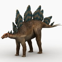3d model of stegosaurus dinosaur animation