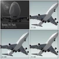 maya boeing 747 pack