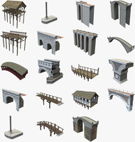 modular bridges pack 3d model