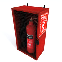 Extinguisher Case Low Poly